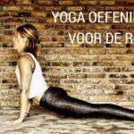 Yoga oefeningen voor de rug