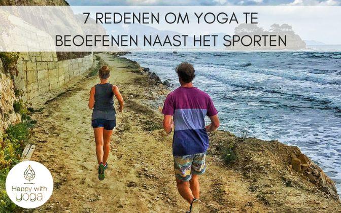 yoga naast het sporten