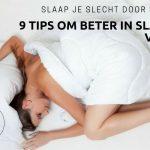 Slaap je slecht door stress? 9 tips om beter in slaap te vallen