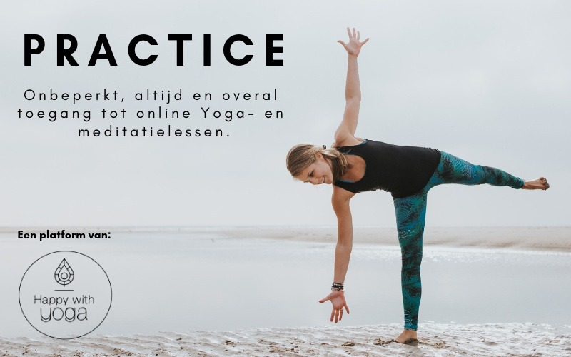 Online Yoga lessen met practice van Happy with Yoga