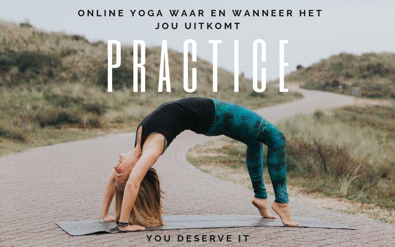 Online yoga en meditatie