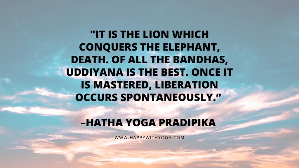 uddiyana bandha quote
