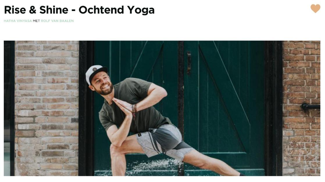 yoga oefeningen in de ochtend