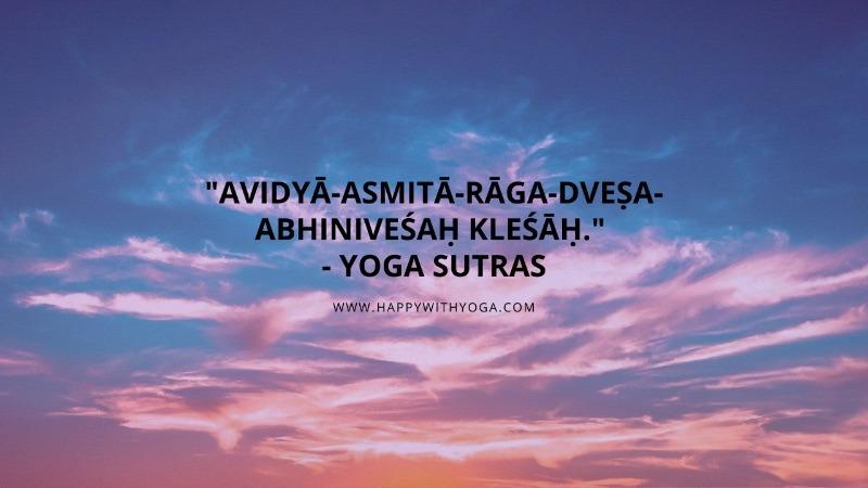 Kleshas quote